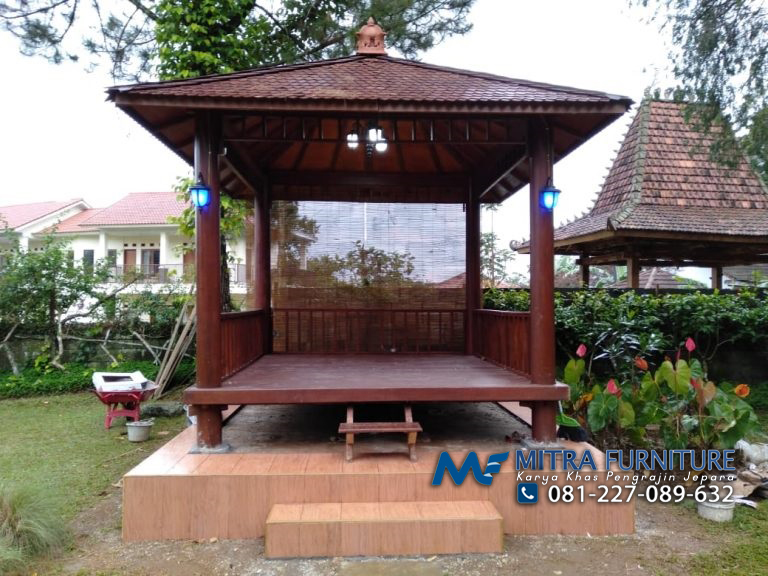 Gazebo Glugu Model Minimalis 3 x 3